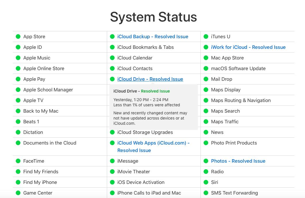 Apple-Sistem-Durumu