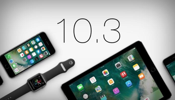 iOS 10.3 vs iOS 10.2.1