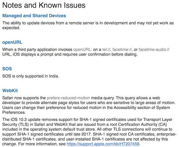 iOS 10.3.3 Yenilikleri