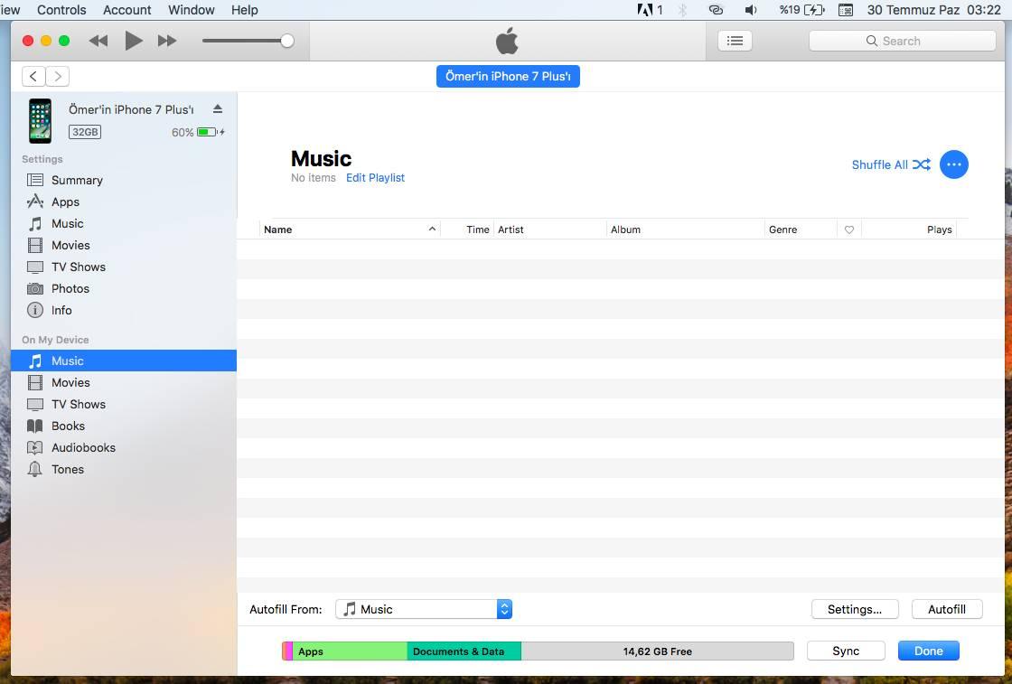 iPhone'a iTunes ile Müzik Atma