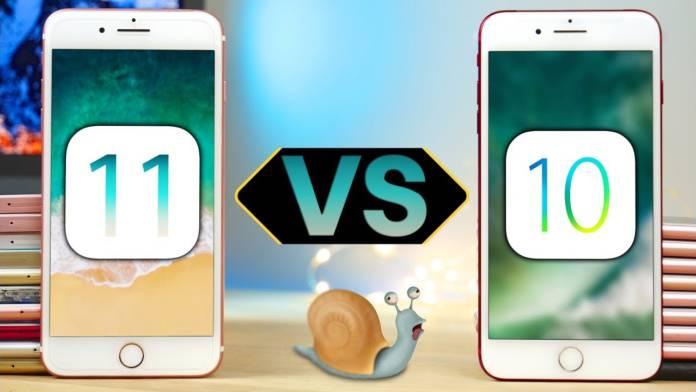 iOS 11 mi iOS 10 mu