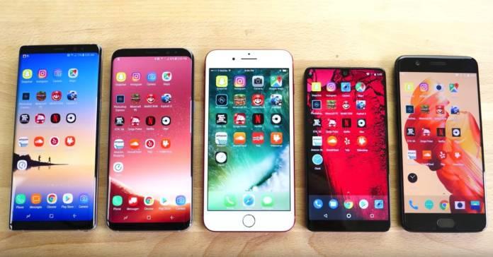 iPhone 7 Plus ve 2017 Android Telefonlar