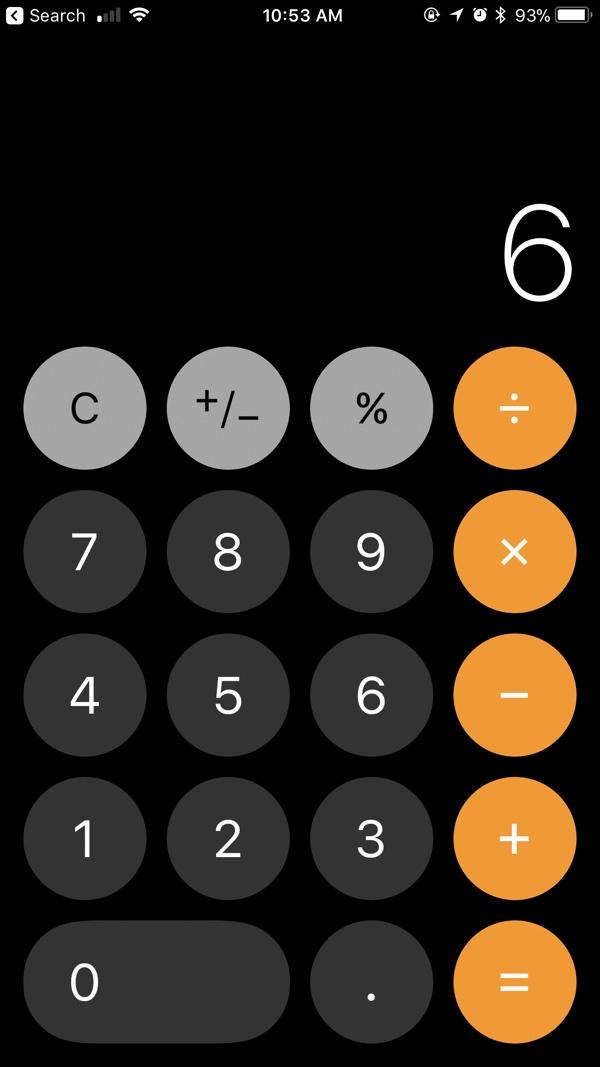 iOS 11 Hesap Makinesi Sorunu