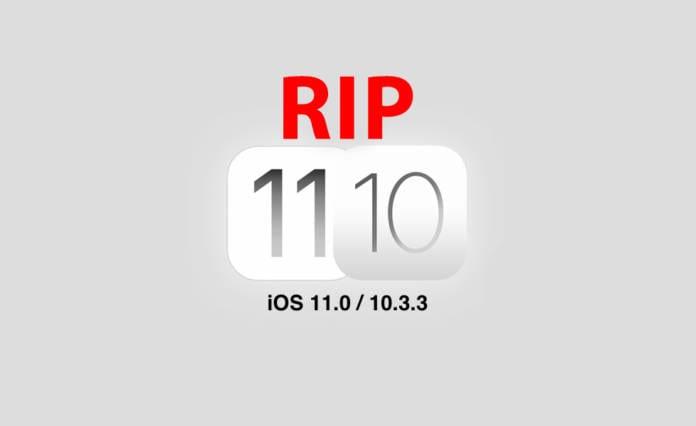 iOS 11.0 ve iOS 10.3.3