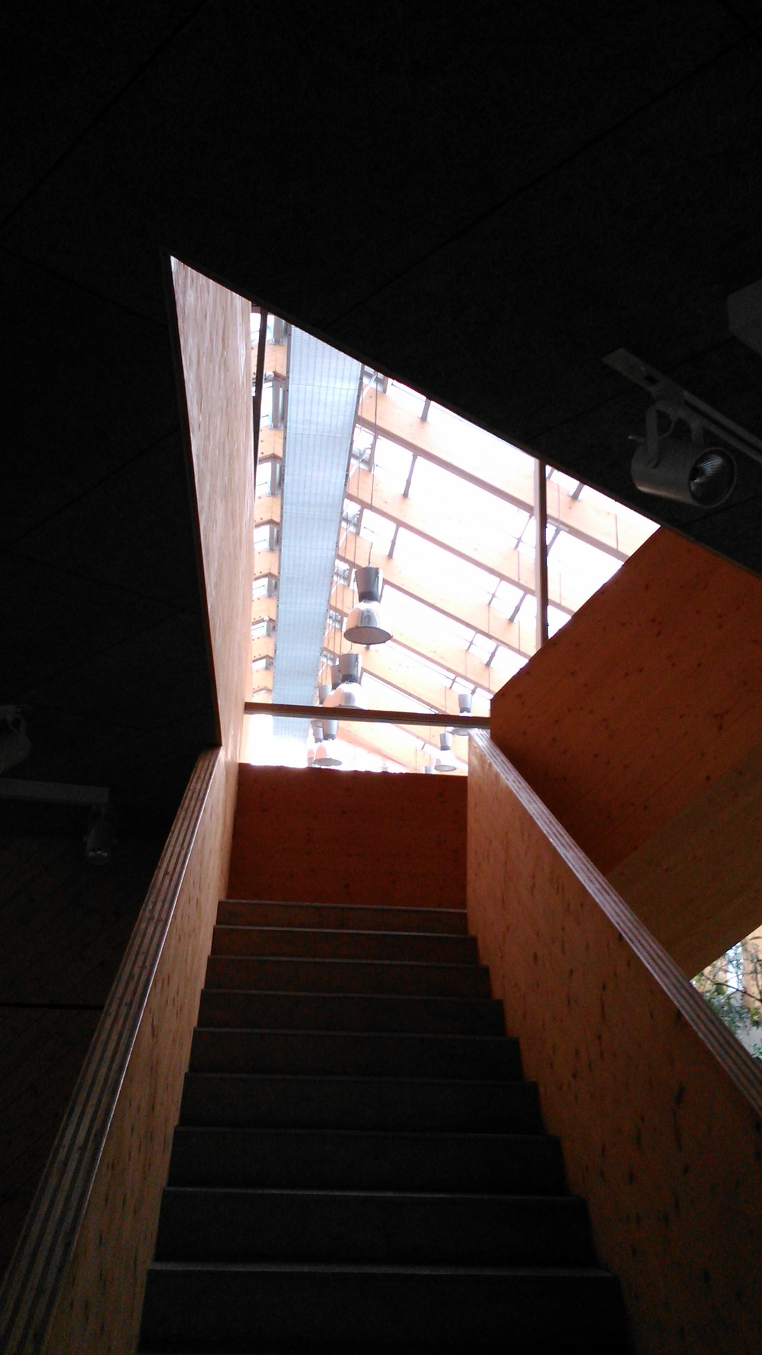 Attic Stairs Window View iPhone 6 Plus HD Wallpaper