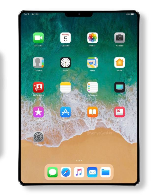 iPhone X'e Benzeyen iPad