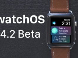 watchOS 4.2 Beta