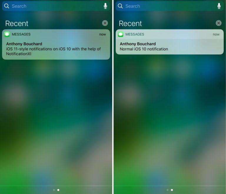 iOS 10 Jailbreak NotificationXI Bildirim Tweak
