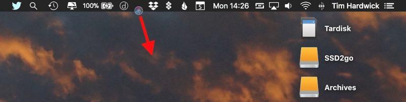 MacOS içinde menü çubuğu simgeleri ekleme, kaldırma ve yeniden düzenleme nasıl yapılır2