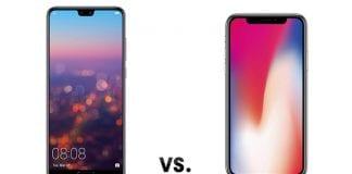 iPhone X ve Huawei P20 Pro