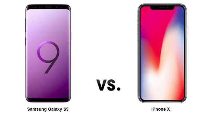 Galaxy S9, iPhone X