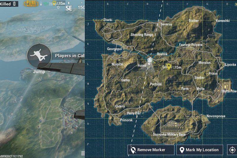 Harita - PUBG Mobile Temel Başlangıç Rehberi