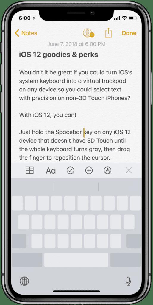 3D Touch Özelliği Olmayan Modellere Trackpad Modu - iOS 12