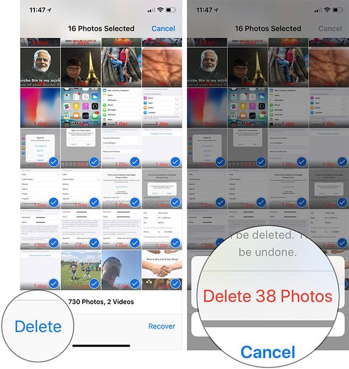 Fotoğrafları Kalıcı Olarak Kaldırma - iOS 12