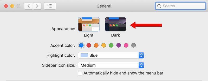 macOS Mojave Dark Mode Nasıl Açılır?