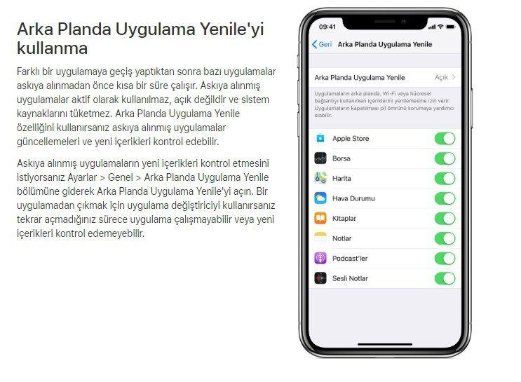 iPhone arka planda uygulamalar