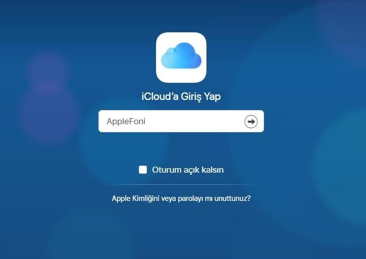 iCloud sifremi unuttum sifre kirma-2