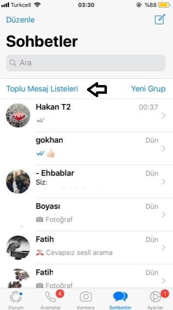 WhatsApp toplu mesaj atma secenegi-2