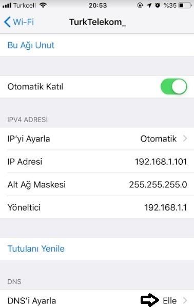 iPhone DNS degistirme ve DNS uygulamasi-4