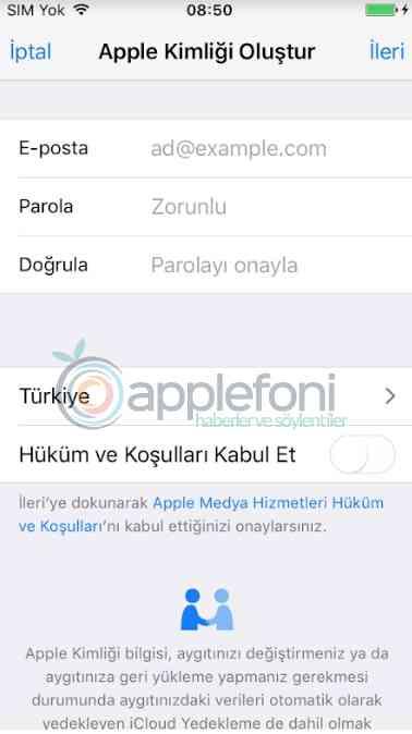 Apple kimligi olusturma Apple hesap acma-5
