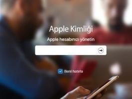 Apple kimligini silme nasil yapilir-1