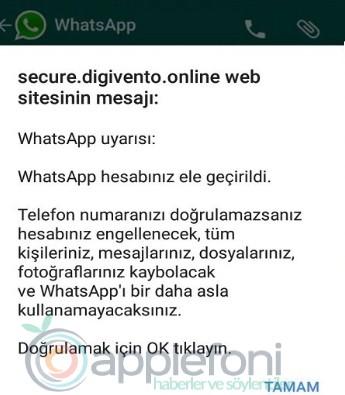 WhatsApp hesabiniz ele gecirildi uyarisi nedir-2