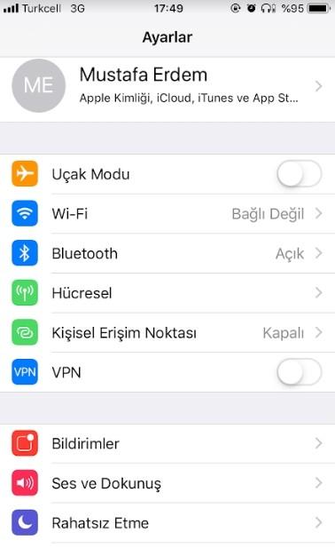 iPhone sim kart pin kodu degistirme-2