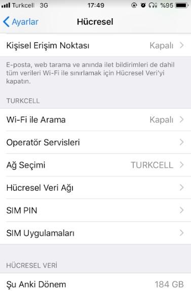 iPhone sim kart pin kodu degistirme-3