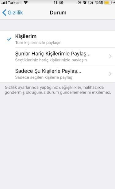 WhatsApp durum nasil gizlenir-5