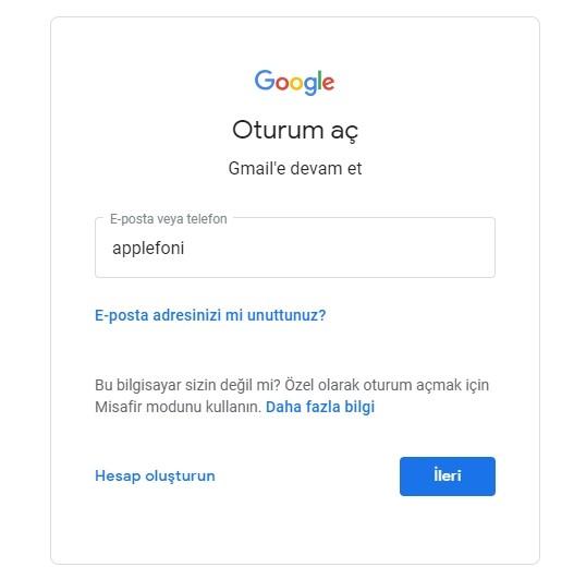 Gmail sifremi unuttum sifre degistirme-2