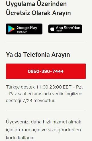 Netflix musteri hizmetleri telefon numarasi Turkiye iletisim-2