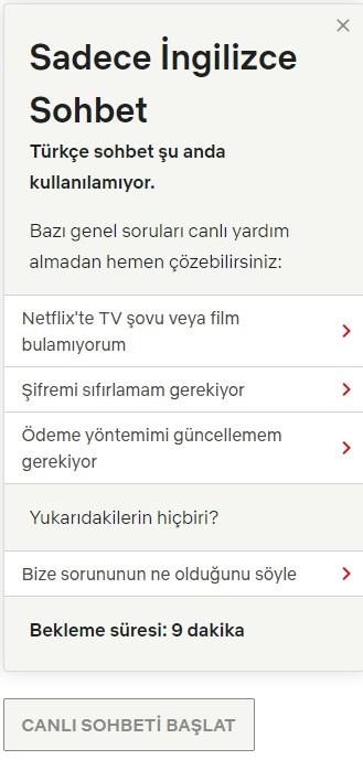 Netflix musteri hizmetleri telefon numarasi Turkiye iletisim-3