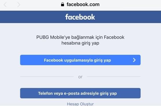 PUBG Mobile hesap acma Facebook Twitter giremiyorum-3
