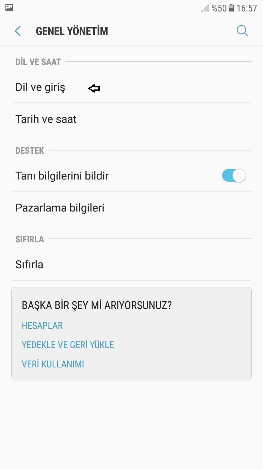 Samsung dil ayarlari Turkce yapma-8