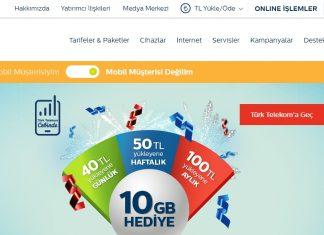 Türk Telekom internetten numara değiştirme