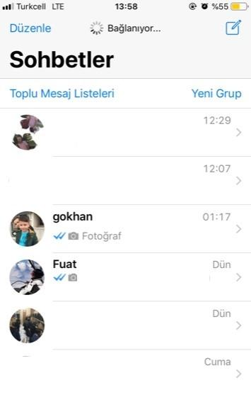 WhatsApp baglaniyor yaziyor baglanmiyor-3