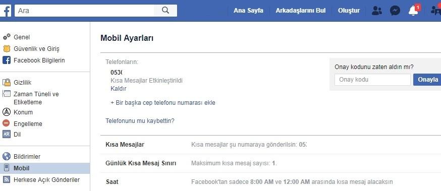 Facebook telefon numarasi ekleme kaldirma nasil yapilir-3