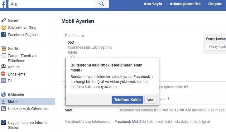 Facebook telefon numarasi ekleme kaldirma nasil yapilir-4