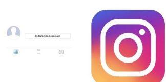 Kullanıcı bulunamadı instagram hatası