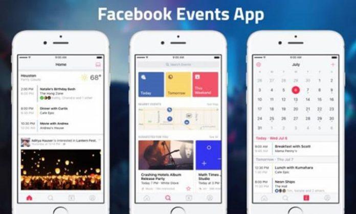 facebook etkinlikler uygulaması