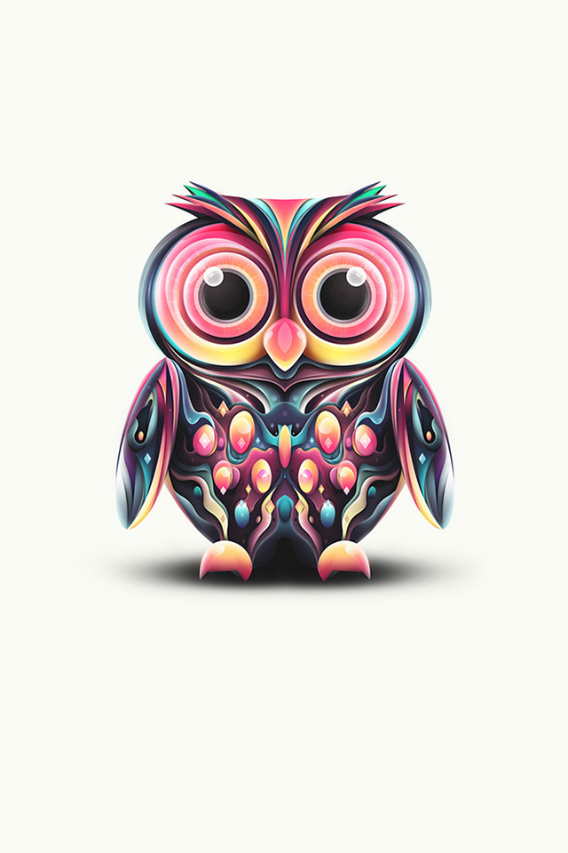 colorful-owl-illustration-iphone-wallpaper