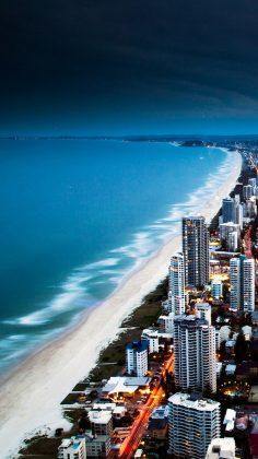 Golden City Coast iPhone 6 Wallpaper