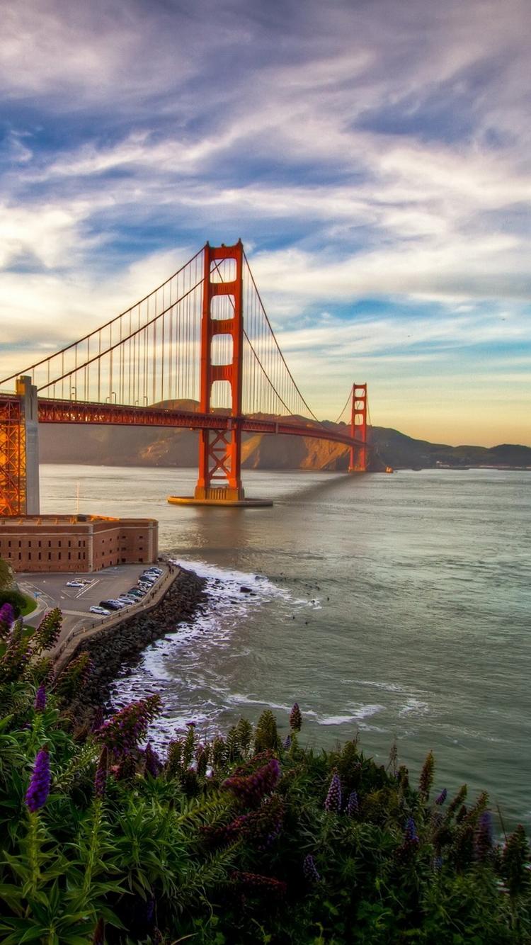 Golden Gate Bridge Beautiful Sunset iPhone 6 Wallpaper