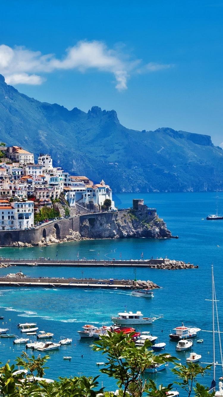 Greece Island City Port iPhone 6 Wallpaper