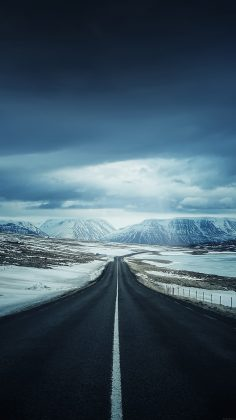 Lonely Mountain Valley Road iPhone 6 Plus HD Wallpaper