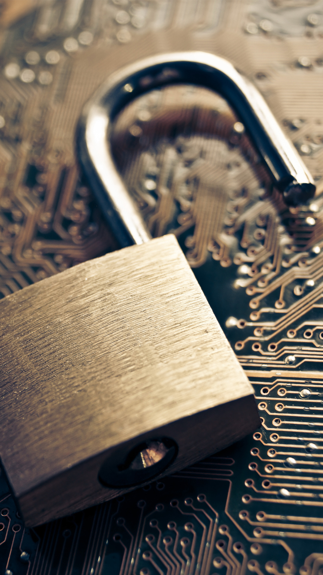 Open Lock On Chip Information Security iPhone 6 Plus HD Wallpaper