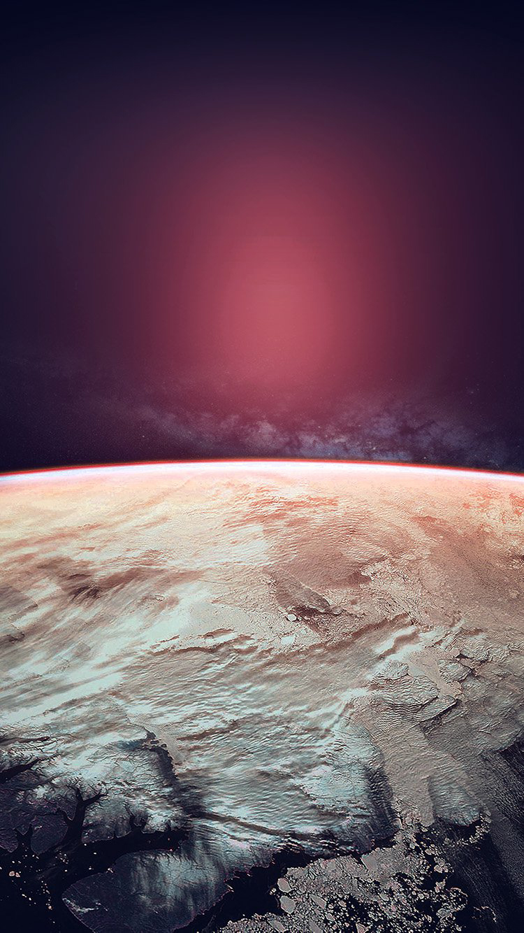 SciFi Planet From Space iPhone 6 Wallpaper