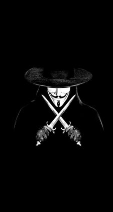 V For Vendetta Man With Knifes iPhone 6 Plus HD Wallpaper