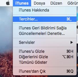 iTunes-Tercihler