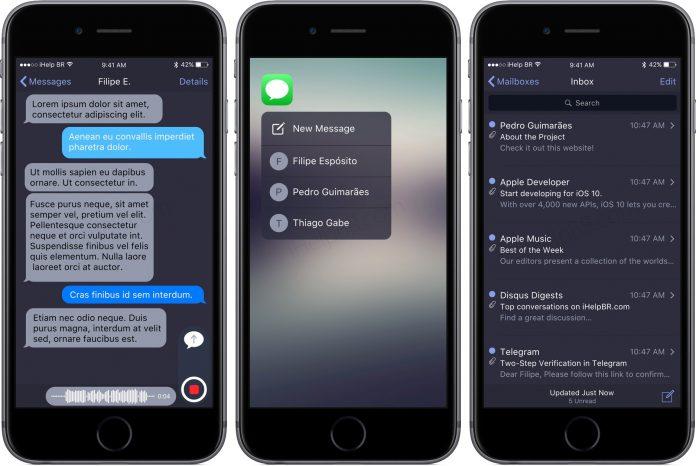 iOS 10 Karanlık Mod (Dark Mod)